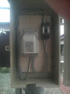 i-MiEV 実家に電源ができました